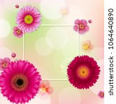flowers frame with bokeh with... | Shutterstock .eps vector #1064640890