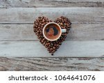 turkish or greek coffee in... | Shutterstock . vector #1064641076