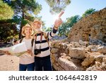 family  age  tourism and travel ... | Shutterstock . vector #1064642819
