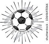 sketch of soccer ball icon  | Shutterstock .eps vector #1064645066