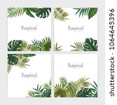 collection of square backdrops... | Shutterstock .eps vector #1064645396