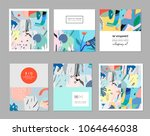 collection of creative... | Shutterstock .eps vector #1064646038