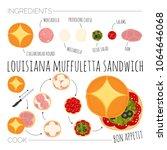 recipe of louisiana muffuletta... | Shutterstock .eps vector #1064646068
