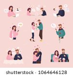 collection of man and woman... | Shutterstock .eps vector #1064646128