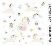 vector illustration of magic... | Shutterstock .eps vector #1064651069