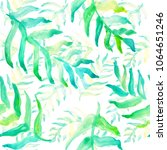watercolor hand drawn summer... | Shutterstock . vector #1064651246
