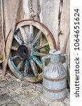 Old Farm Tool  Wooden Wheel...