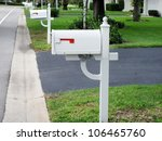 An Image Of White Mailboxes...