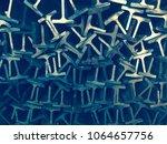 textures steel t bar  | Shutterstock . vector #1064657756