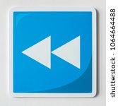 Small photo of Blue rewind button music icon