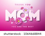 happy mothers day greeting card ... | Shutterstock .eps vector #1064668844
