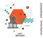 trendy style geometric pattern...   Shutterstock .eps vector #1064669633