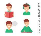 reading  writing  speaking ... | Shutterstock .eps vector #1064681120