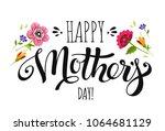 elegant banner happy mothers... | Shutterstock .eps vector #1064681129