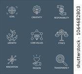 modern flat thin line icon set... | Shutterstock .eps vector #1064682803