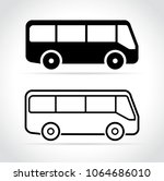illustration of bus icons on... | Shutterstock .eps vector #1064686010