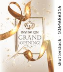grand opening party banner with ... | Shutterstock .eps vector #1064686316