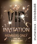 vip party banner with... | Shutterstock .eps vector #1064686688