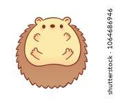 drawing of cute cartoon baby... | Shutterstock .eps vector #1064686946