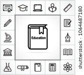 illustration of education icons ... | Shutterstock .eps vector #1064687180