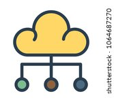 computing cloud server  | Shutterstock .eps vector #1064687270