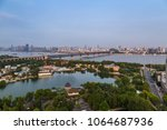 bird view at wuhan city china | Shutterstock . vector #1064687936