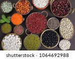 beans  peas and lentils in...   Shutterstock . vector #1064692988