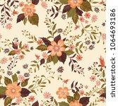 floral seamless pattern.... | Shutterstock .eps vector #1064693186