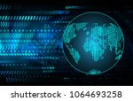 binary circuit board future... | Shutterstock .eps vector #1064693258