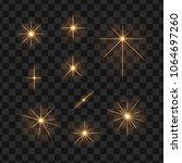 set of sunshine light. star... | Shutterstock .eps vector #1064697260