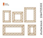 laser cut panel collection.... | Shutterstock .eps vector #1064705333