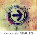 abstract grunge arrow...