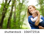 Mother And Baby In Park