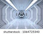 futuristic hallway. interior...   Shutterstock . vector #1064725340
