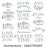 hand drawn pencil coffee... | Shutterstock .eps vector #1064734349