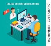 online doctor medical... | Shutterstock .eps vector #1064736440