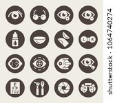 ophthalmology icon set | Shutterstock .eps vector #1064740274