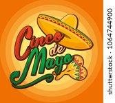 cinco de mayo lettering... | Shutterstock . vector #1064744900