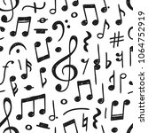hand drawn music notes... | Shutterstock .eps vector #1064752919