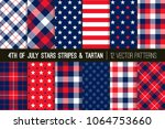 patriotic red  white  blue... | Shutterstock .eps vector #1064753660