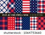 patriotic red  white  blue... | Shutterstock .eps vector #1064753660