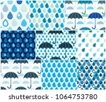 falling rain drops and... | Shutterstock .eps vector #1064753780