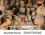 fishing equipment and kitchen...   Shutterstock . vector #1064754260