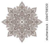 vector mandala pattern of henna ... | Shutterstock .eps vector #1064758520