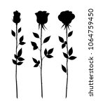 set of decorative rose with... | Shutterstock .eps vector #1064759450