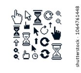 set of vector retro cursor... | Shutterstock .eps vector #1064761448