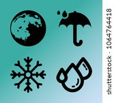 vector icon set about weather...   Shutterstock .eps vector #1064764418