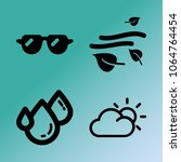 vector icon set about weather...   Shutterstock .eps vector #1064764454