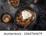 homemade granola  hazelnuts ... | Shutterstock . vector #1064764679