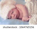 little newborn baby | Shutterstock . vector #1064765156